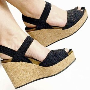 Adam Tucker Shoes - Adam Tucker PosyBasketweave Platform Wedge Sandal