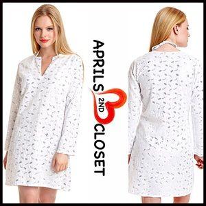 ❤❤ Embellished White Tunic Swim Coverup Mini Dress