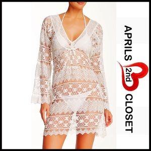 Mirabelle Bleu Dresses & Skirts - ❗️1-HOUR SALE❗️TUNIC DRESS Crochet Coverup Mini