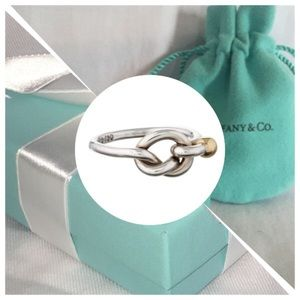 Tiffany & Co. Sterling Silver Love Knot Ring