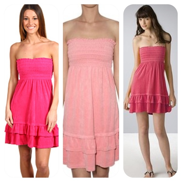 74d0c6019e1 Juicy Couture Dresses   Skirts - JUICY COUTURE-STRAPLESS SMOCKED TERRY  CLOTH DRESS