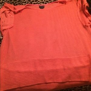 Coral summer sweater