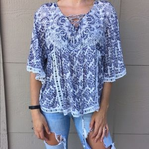Navy Blue Paisley Tunic