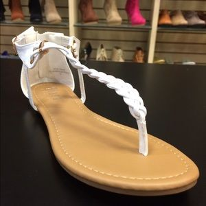 🐠White Braided Flat Sandals🐠