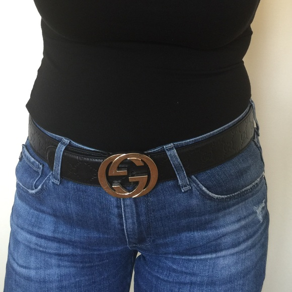 c268feac2 Gucci Accessories | Black Ladies Belt | Poshmark