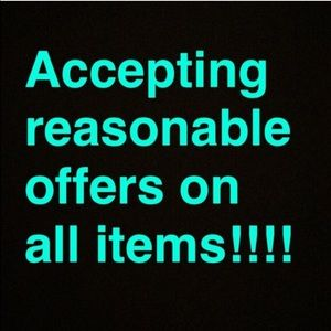 Accepting REASONABLE offers!!!  Use offer button!