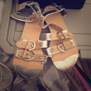 Simonetta Shoes - Simonetta size (38 Euro) leather sandals
