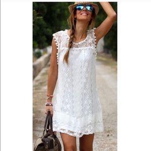 Dresses & Skirts - White lace mini dress