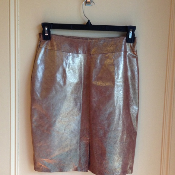 53 express dresses skirts gold leather pencil