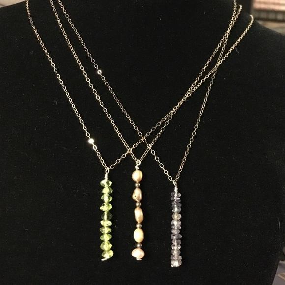ApsaraJewels Jewelry - Various vertical gemstone bar necklaces
