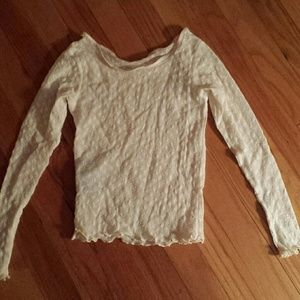 Tops - Ivory Sheer Crop Top