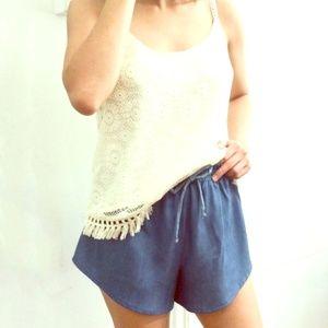 Atid Clothing Pants - 🚨FINAL SALE!🚨Boho Chambray Shorts!