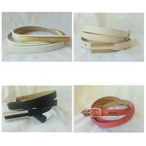 Nwot CK skinny saffiano leather belt