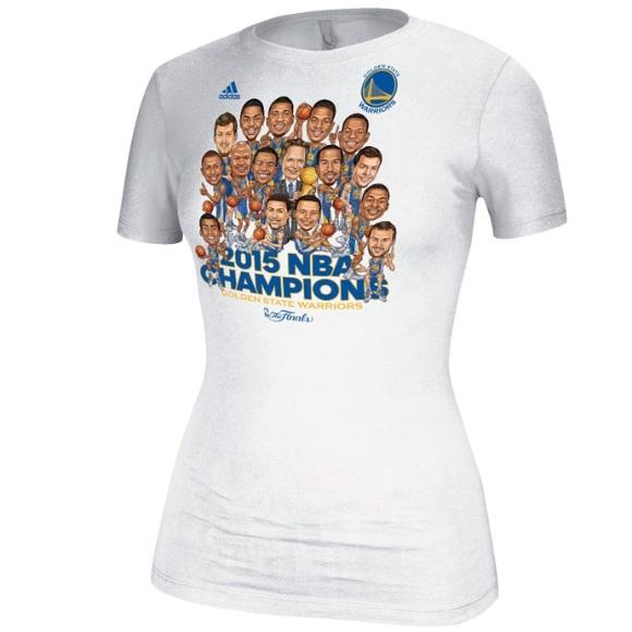 ddce145f Adidas Tops   Golden State Warriors 2015 Finals Caricature Shirt ...