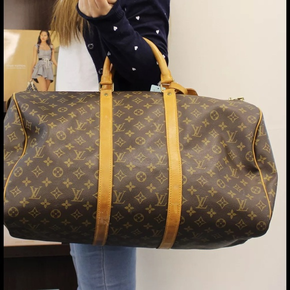 76d7aa3432a1 Louis Vuitton Handbags - Louis V Keepall 50 travel bag authentic with code