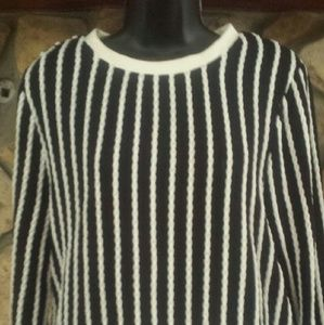 Tops - SzL NWT. Long sleeve, striped, with zipper closure