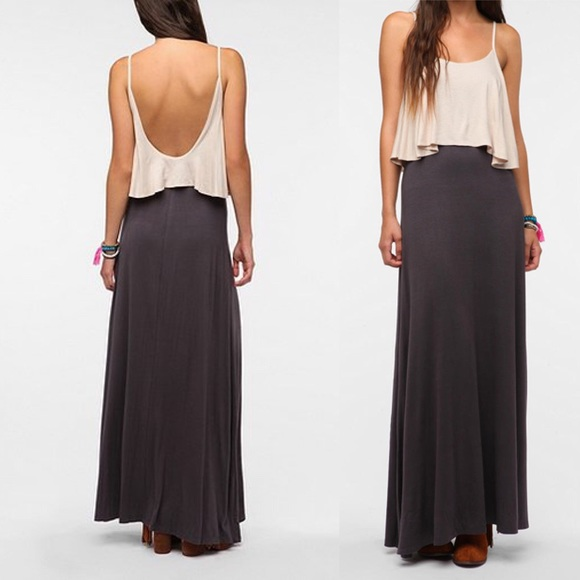 Urban Outfitters Dresses Staring At Stars Knit Layered Maxi Dress