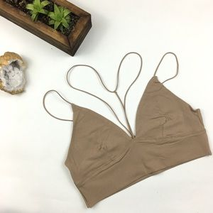 Taupe Y-Neck Bralette