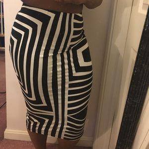 ASOS Geometric Pencil Skirt