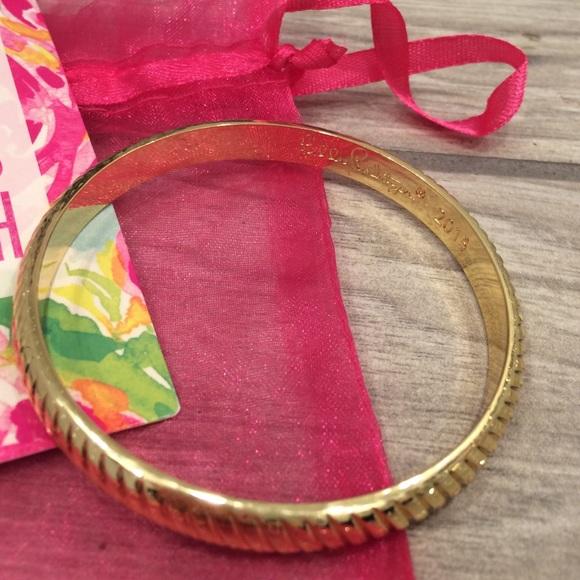 Lilly Pulitzer Jewelry - Lilly Pulitzer Gold Bangle Bracelet
