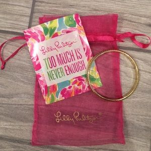 Lilly Pulitzer Gold Bangle Bracelet