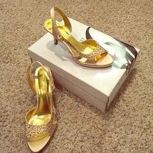Nine West size 7.5 satin heels