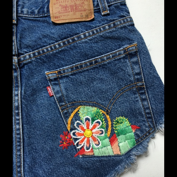 Levi s one of a kind embroidered vintage from
