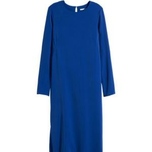 Blue back out dress trend