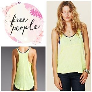 "Free people ""Venice vibes "" knit tank - yellow"