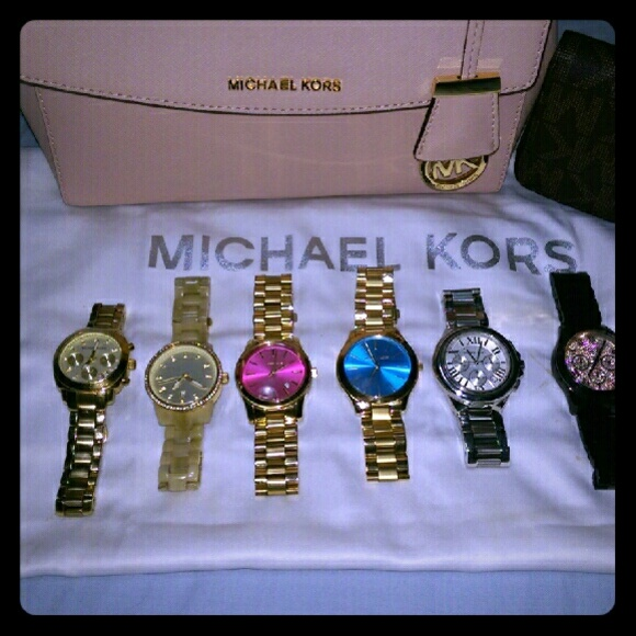 9b98488066e0 Just showing! My collection of MK watches. NWT. Michael Kors