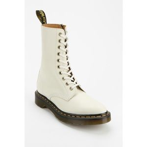 Dr. Martens White Alix Pointy-Toed Boot