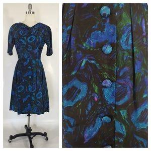 Suzy Perette Silk Cocktail Dress