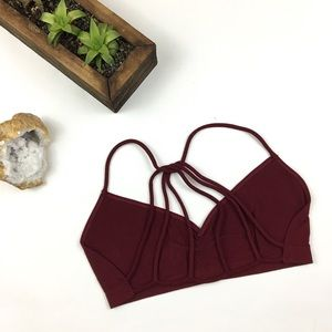 Other - Deep Red Strappy Back Bralette