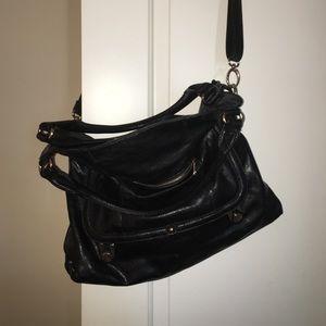 Handbags - Black Slouchy Handbag