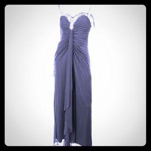 Onyx Dresses & Skirts - NWT-ONYX formal long black dress stone clusters 12