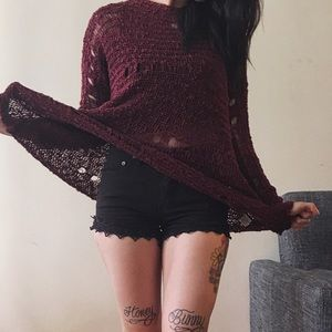 Destroyed Knit Pullover