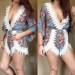 April Spirit Other - RESTOCKED!!•Lace detail beach romper