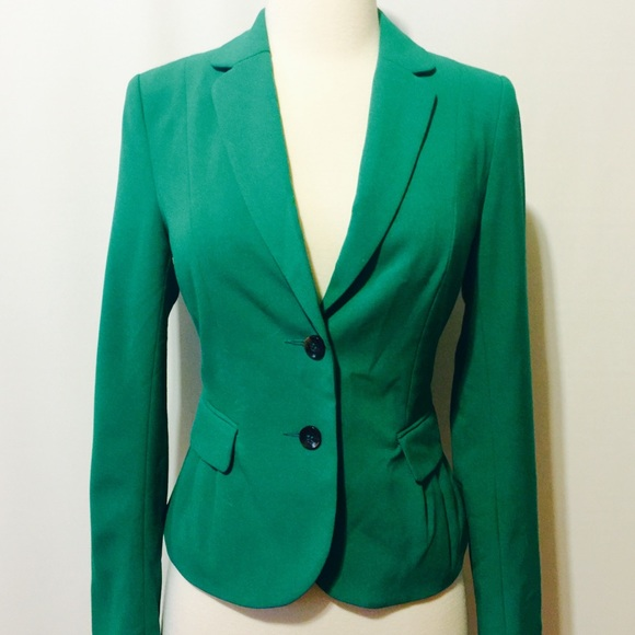 73% off H&M Jackets & Blazers - Jade Green Fitted Jacket from ...