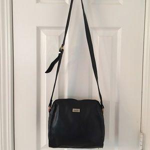 Perlina Handbags - 🛍 Perlina Black Leather Cross Body Bag