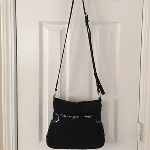 Thirty One Handbags - 🛍 Thirty One Black Cotton Cross Body Bag