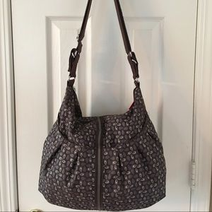 Babymel Handbags - 🛍 Babymel Black Gray Large Diaper Baby Bag