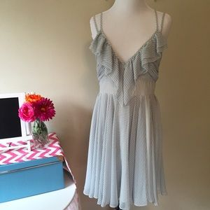 Guess size 10 dress. Soft blue and white stripes.