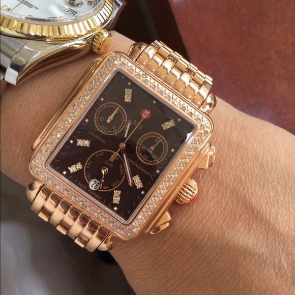 Brand New Rose Gold Michele Deco Watch No Trades Boutique