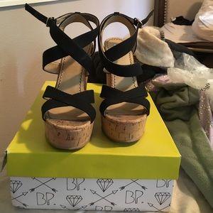 bp Shoes - BP cork wedges