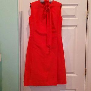 VINTAGE 50'S-60'S ORANGE SHIFT DRESS