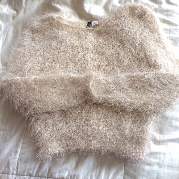 40% off H&M Sweaters - H&M fuzzy cream sweater. from 🍄🐊amanda's ...