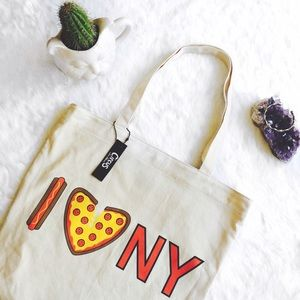 Circus by Sam Edelman Handbags - I Love / Heart New York Pizza Canvas Tote