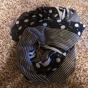 Other - Black and white scarf.