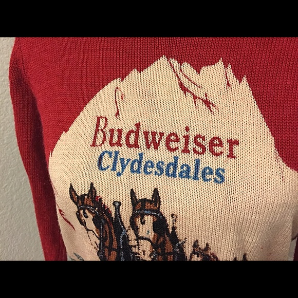64% off Urban Outfitters Sweaters - NWOT Budweiser Horse Sweater ...