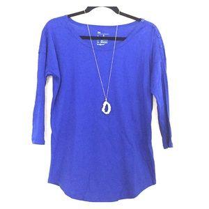 NWOT Royal Blue GAP 3/4 Sleeve Top